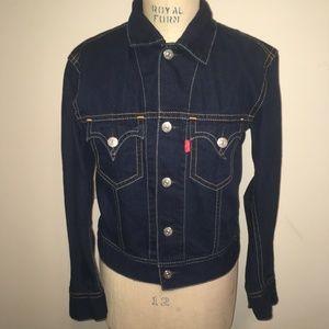 Levi's  Blue Stretch Denim Jean Jacket